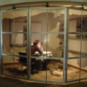 Furniture design by Hlevel Architecture - war room doors