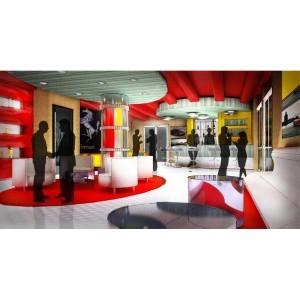 Ferrai Lounge Design by Hlevel Architects