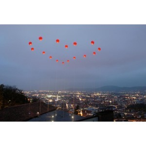 Heart Balloon Art Installation by Hlevel Architects