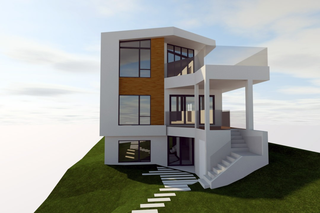 KROL RESIDENCE - Rear_Option 2 - Hlevel Architecture