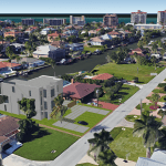 HLEVEL ARCHITECTURE 360 HERON RENDERED AERIAL VIEW