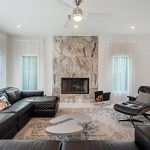 HLEVEL ARCHITECTURE MISSION DR REMODEL LIVING ROOM WITH VIEW OF FIRE PLACE