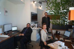 Michaela Reiterer Henning, Brandt Henning, Jose Tribaldos in Hlevel Office Naples Florida