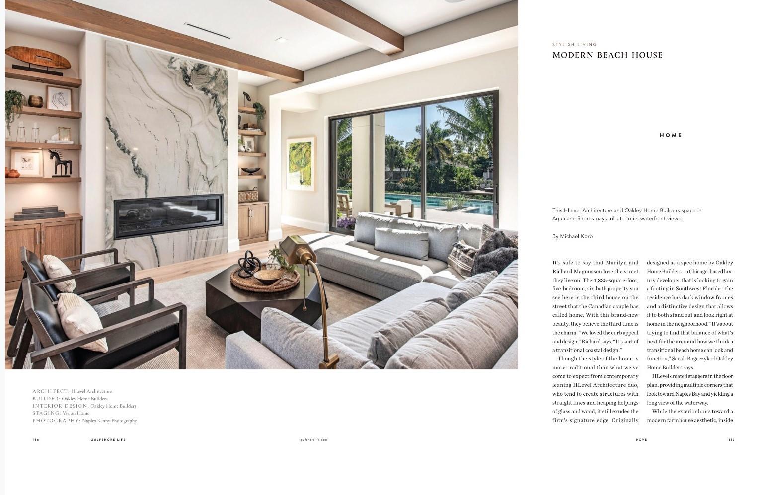 Gulfshore Life Magazine and Hlevel Architecture